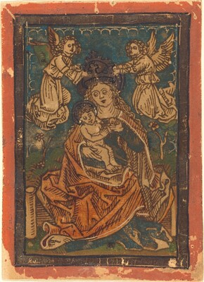 Madonna and Child Seated on a Grassy Bank with Angels