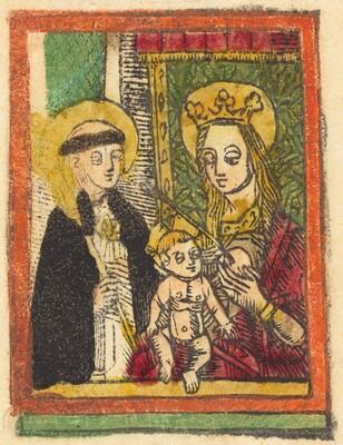 Saint Bernard with the Madonna and Child