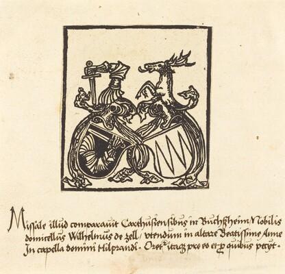 Bookplate of Wilhelm von Zell