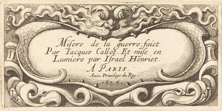 Title Page for Callot's The Small Miseries of War