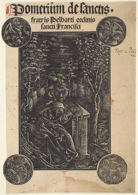 Franciscan, Pelbartus of Temesvar, in a Garden