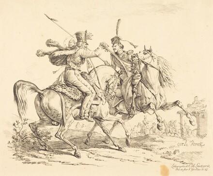 Hussard Striking a Cosack