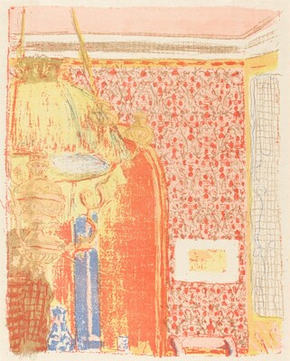 Interior with Pink Wallpaper III (Interieur aux tentures roses III)