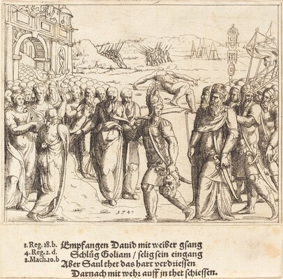 David is Welcomed after Killing Goliath, and Saul's Jealousy