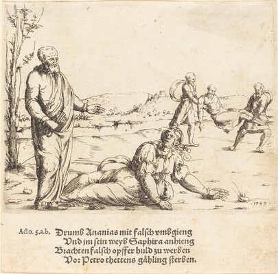 The Punishment of Ananias and Sapphira