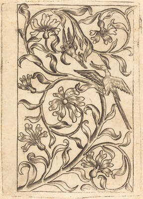 Vine Ornament with Two Birds