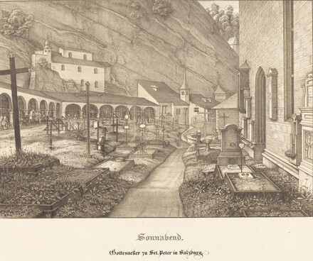 Sonnabend - Gottesacker zu St. Peter in Salzburg (Saturday - Graveyard of St. Peter's in Salzburg)
