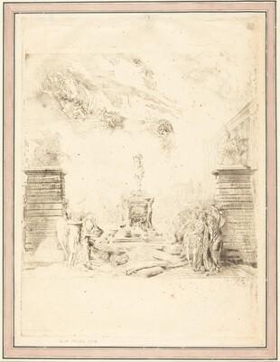 Allegorie sur l'Erection de la Statue de Louis XV (Allegory on the Establishment of a
