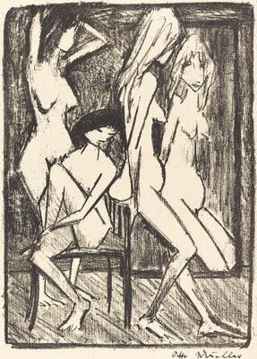 Three Girls in front of a Mirror (Drei Madchen vor dem Speigel)