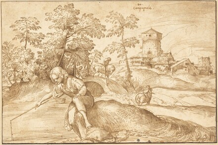 Landscape with a Boy Fishing