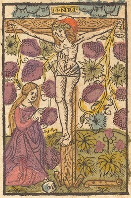 Christ on the Cross with a Grape Vine