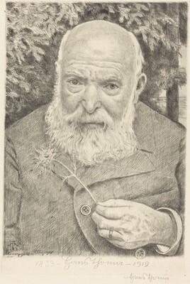 Self-Portrait VI with Flower