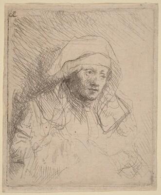 Sick Woman with a Large White Headdress (Saskia)