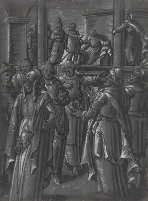 The High Priest before Pilate [verso]