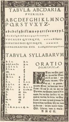 Alphabet for a Primer