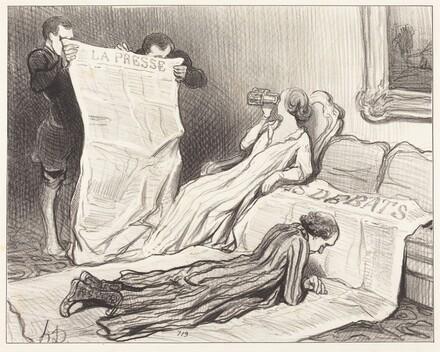 Abonnés recevant leur journal...