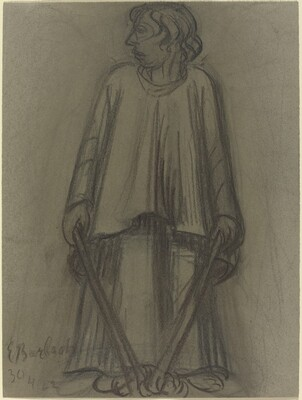 Standing Figure with Extinguished Torches