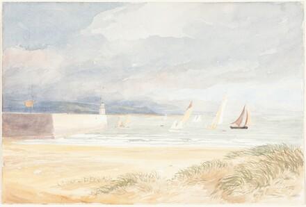 Shore Scene with Sailboats (Portland, Dorset?)