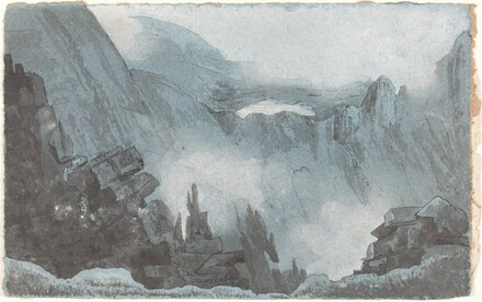 Mountain Scene with Rocks