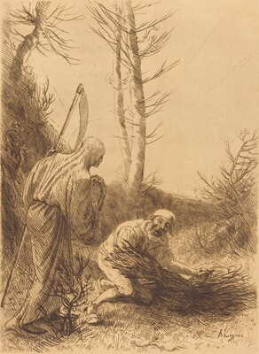 Death and the Woodcutter, 2nd plate (Le mort et le bucheron)