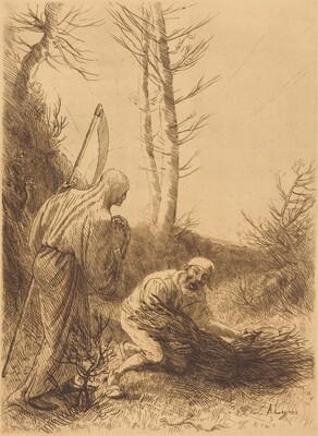 Death and the Woodcutter, 2nd plate (Le mort et le bucheron)