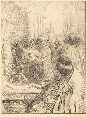 Monks at Church (Les moines a l'eglise)