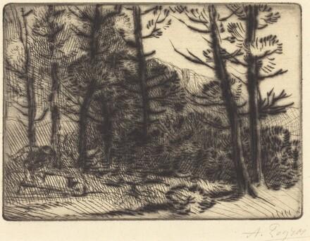 Woods in Winter Sun, 2nd plate (Soleil d'hiver dans les bois)