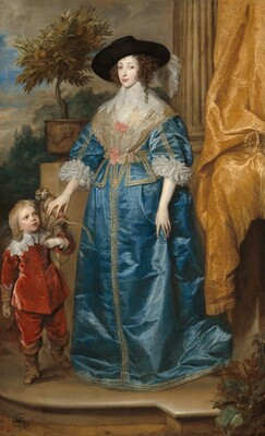 Queen Henrietta Maria with Sir Jeffrey Hudson