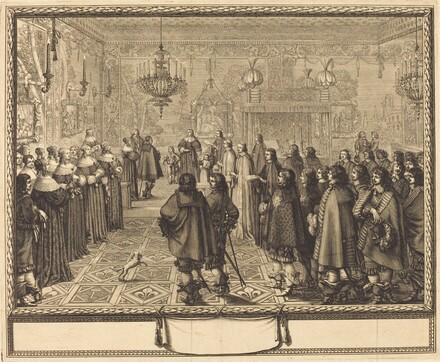 Ceremony of the Contract of Marriage between Vladislas IV, King of Poland, and LouiseMarie of Gonzaga, Princess of Mantua, at Fontainbleau