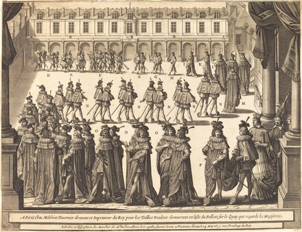 March of the King and Knights of the Holy Spirit in the Courtyard at Fontainebleau