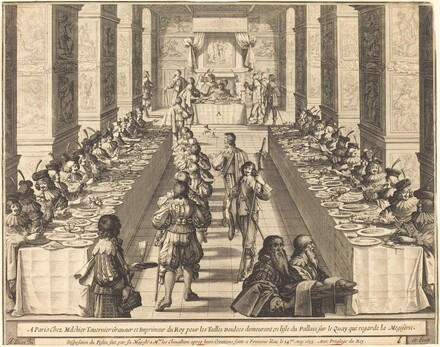 Banquet Given by the King to the New Knights