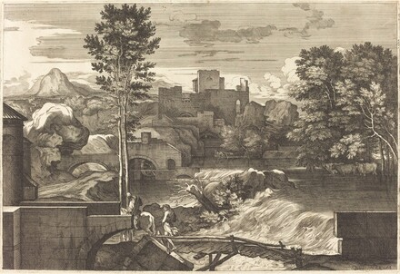 Landscape with Two Figures on a Bridge