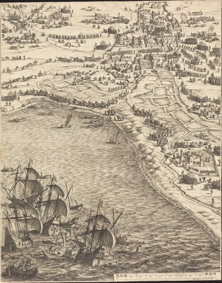The Siege of La Rochelle [plate 12 of 16; set comprises 1952.8.97-112]