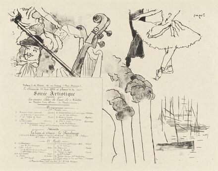 Program for the Soiree Artistique (Programme de la Soirée des anciens élèves du Lycée de Nantes)