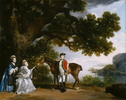 Captain Samuel Sharpe Pocklington with His Wife, Pleasance, and possibly His Sister, Frances