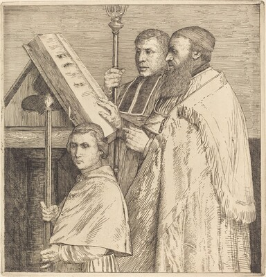 Choristers, 2nd plate (Le lutrin)