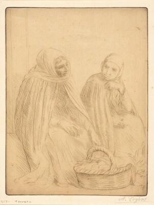 Egg-sellers, 1st plate (Les marchandes d'oeufs)