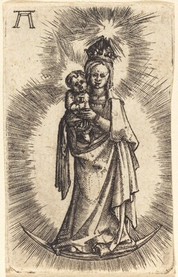 Madonna and Child Standing with a Crescent
