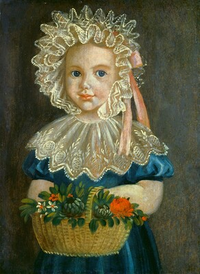 Little Girl with Flower Basket