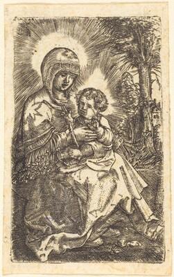 The Beautiful Virgin of Ratisbon in a Landscape