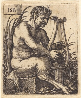 Satyr Playing Lyre