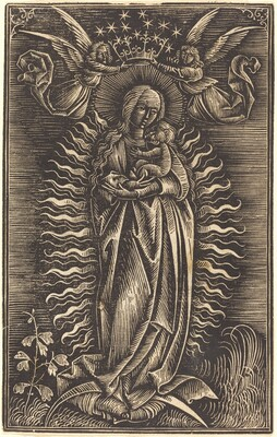 The Virgin Crowned by Two Angels