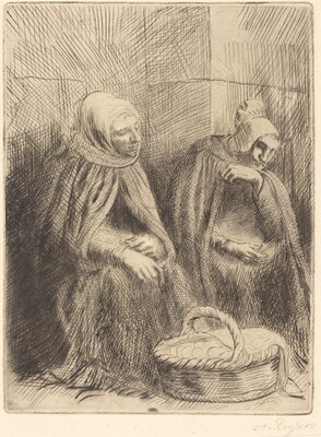 Egg-sellers, 1st plate (Les marchandes d'oeufs)