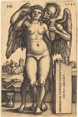 Death and the Standing Nude Woman