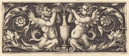 Ornament with Two Tritons Blowing Horns