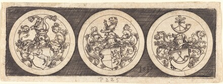 Three Medals with Coats of Arms