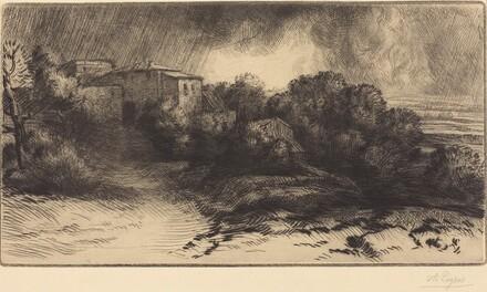 View of a Farm Seen in a Storm (La ferme de Brieux (Effet d'orage))