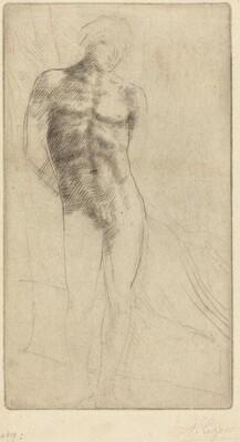 Study of a Nude Figure (Etude de figure nue)
