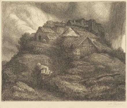 Village of Saint-Pierre during a Storm (Village de Saint-Pierre; Effet d'orage)