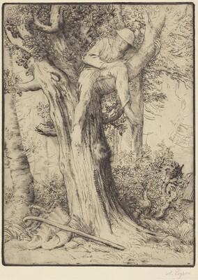 Landscape with a Boy in a Tree (Paysage avec un garcon grimpe sur un arbre, dite Le denicheur d'oiseaux)
